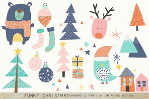 Funky Christmas Cliparts