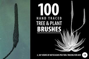 100 Tree and Plant Brushes