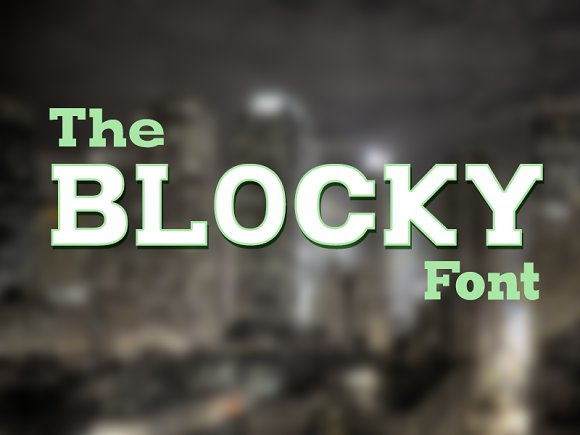 The Blocky Font