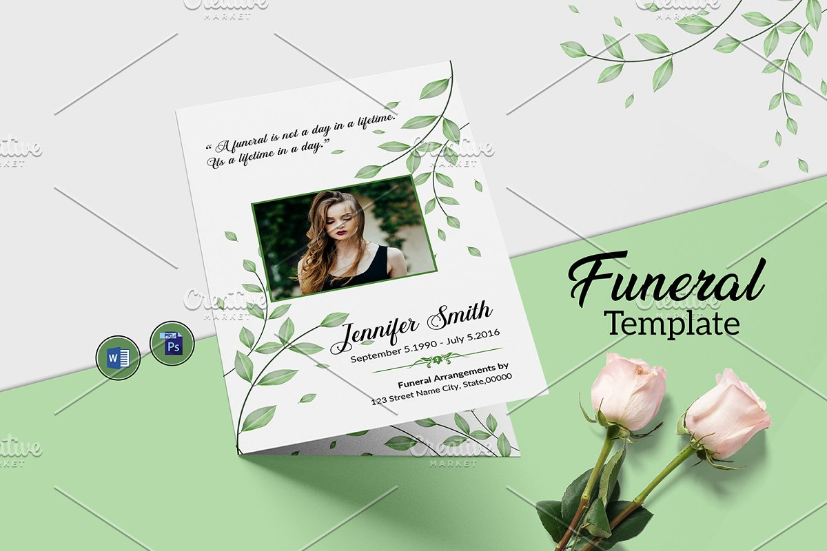 Funeral Program Template - V1008