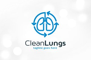 Clean Lungs Logo Template