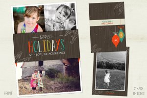 Mod Evergreens Holiday Photo Card