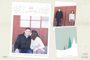 Holiday Confetti Photo Card