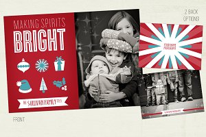 Bright Spirits Holiday Photo Card
