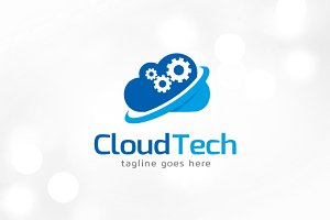 Cloud Tech Logo Template