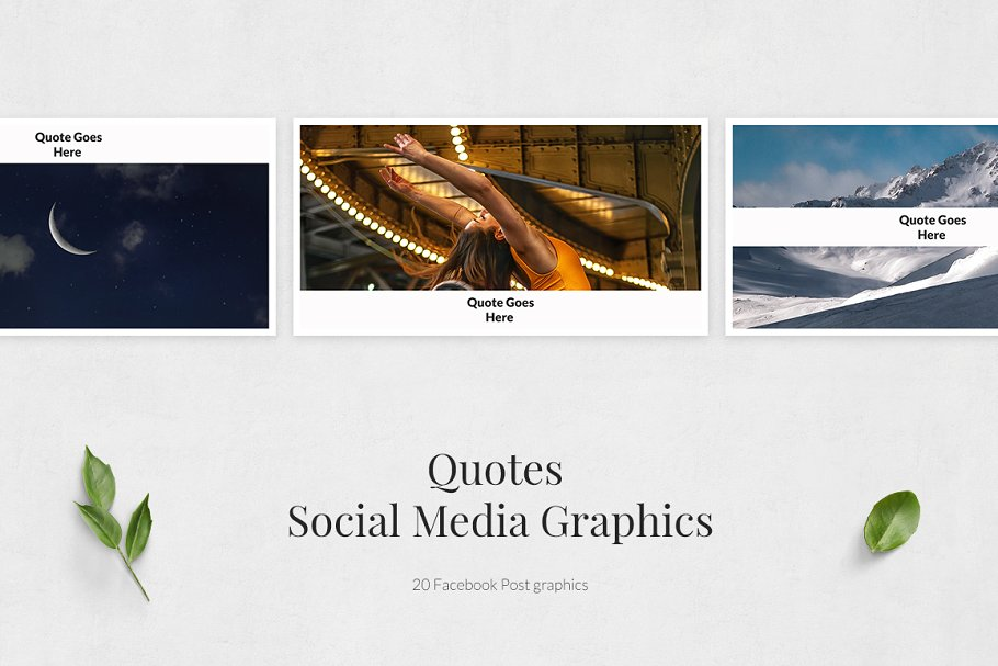 Quotes Facebook Posts in Facebook Templates - product preview 1