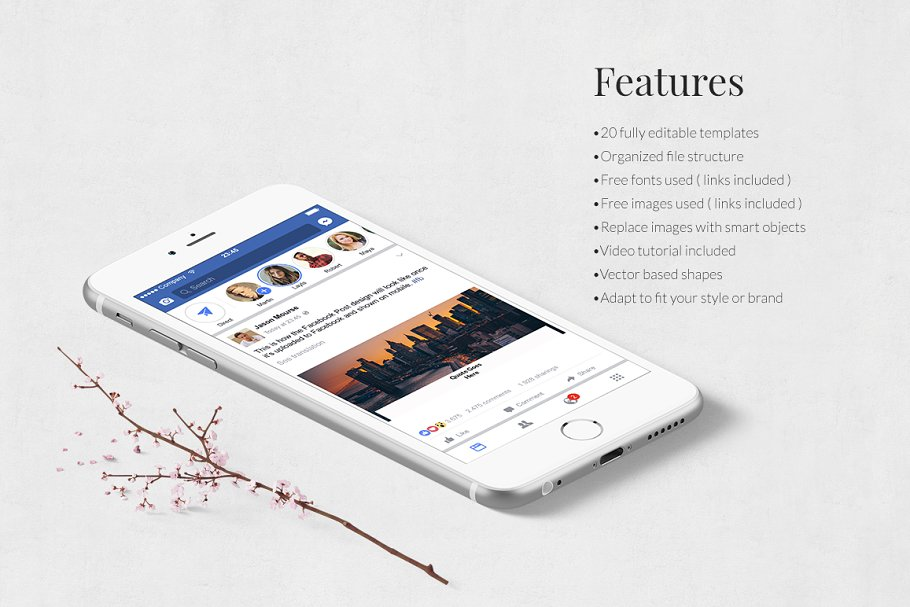 Quotes Facebook Posts in Facebook Templates - product preview 2