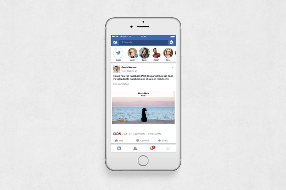 Quotes Facebook Posts in Facebook Templates - product preview 5
