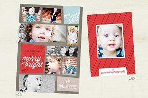 Kraft Squares Holiday Photo Card