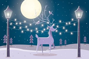 reindeer vector/illustration