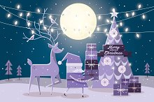 night christmas vector