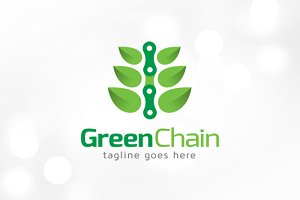 Green Chain Logo Template