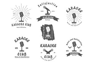 Karaoke club  retro emlembs