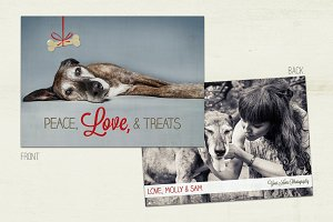 Peace Love & Treats Holiday Pet Card