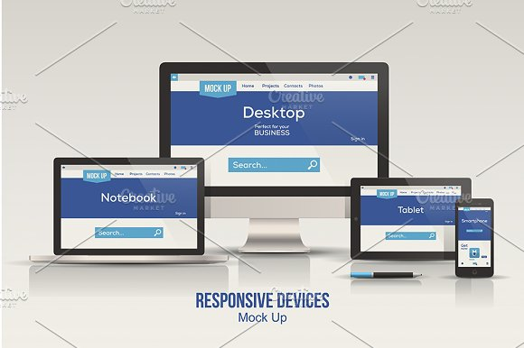 Responsive Devices Mock up