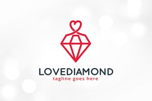 Love Diamond Logo Template