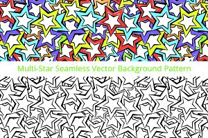 Stars Pattern - Vector Graphic