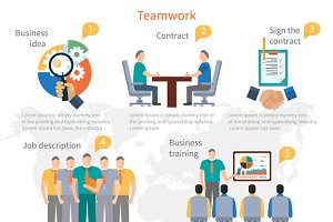 Teamwork Infographics Template