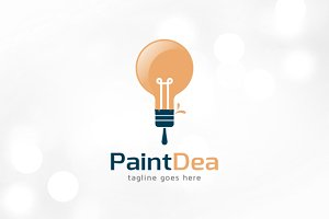 Paint Idea Logo Template