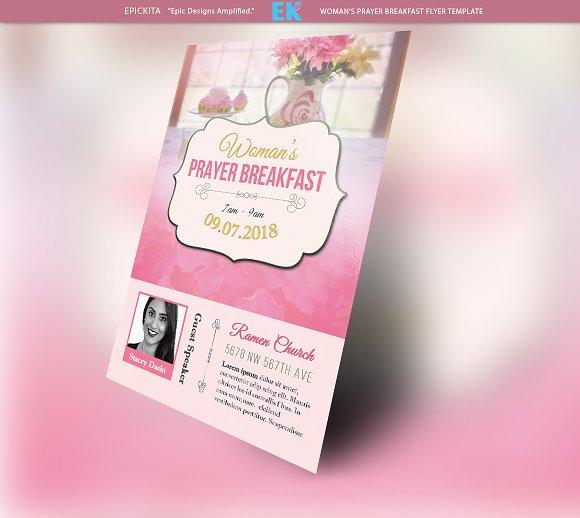 woman s prayer breakfast flyer flyer templates creative market