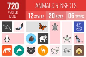 720 Animals & Insects Icons