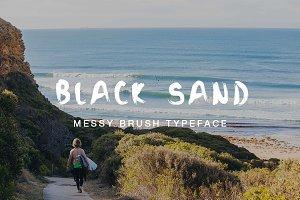 Black Sand Brush Typeface