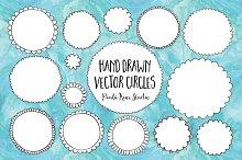 Hand Drawn Vector Circles