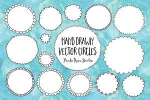 Hand Drawn Vector Circles