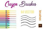 Crayon Brushes Illustrator Vector