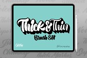 Procreate Thick & Thin Brush Set