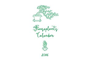Calendar 2016. Houseplants