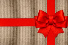 Red ribbon bow wrapping paper