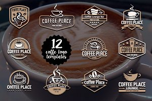 12 coffee logo templates