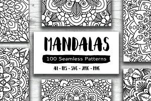 100 Mandalas Seamless Patterns