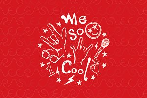 Me So Cool - Scribble Vector Graphic