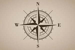 Vector compass rose (windrose) - 3