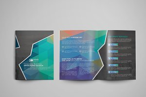 Bi fold Abstract Brochure