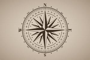 Vector compass rose (windrose) - 4