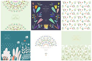 30 patterns with leaves and berries