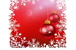 Christmas decorations, vector