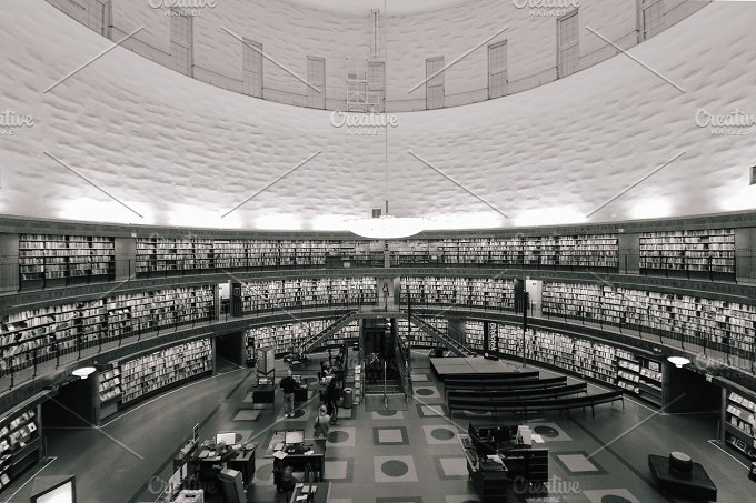 stockholm public library no.2 - Architecture