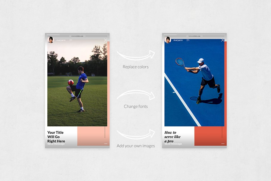 Sports Animated Instagram Stories in Instagram Templates - product preview 4