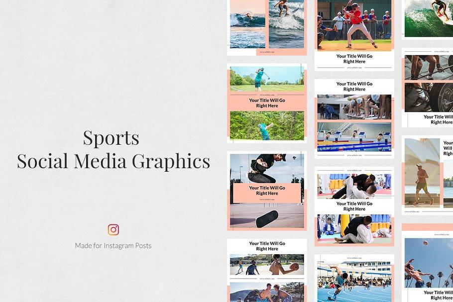 Sports  Instagram Posts in Instagram Templates