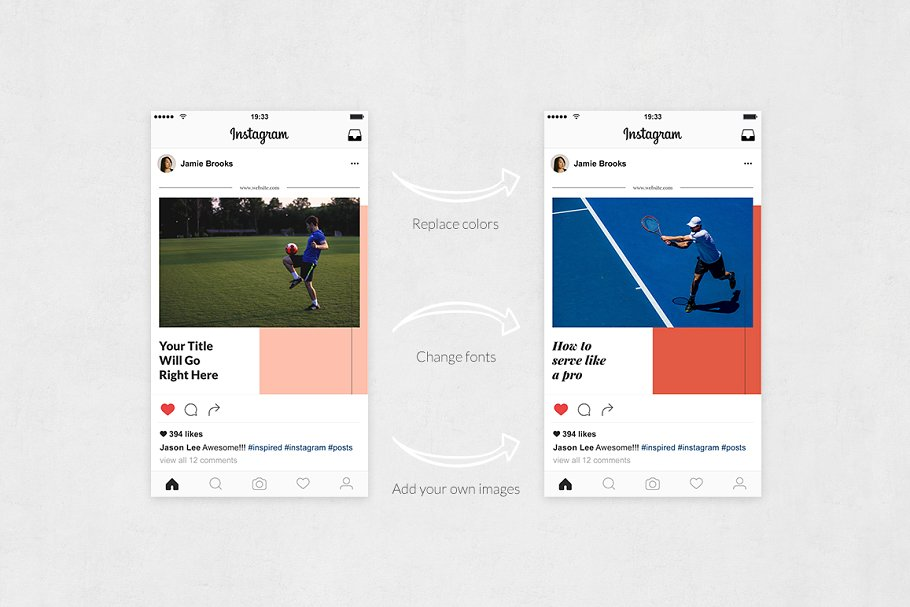 Sports  Instagram Posts in Instagram Templates - product preview 4