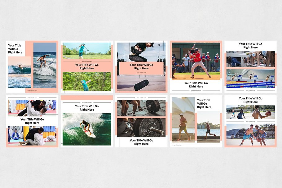 Sports  Instagram Posts in Instagram Templates - product preview 7