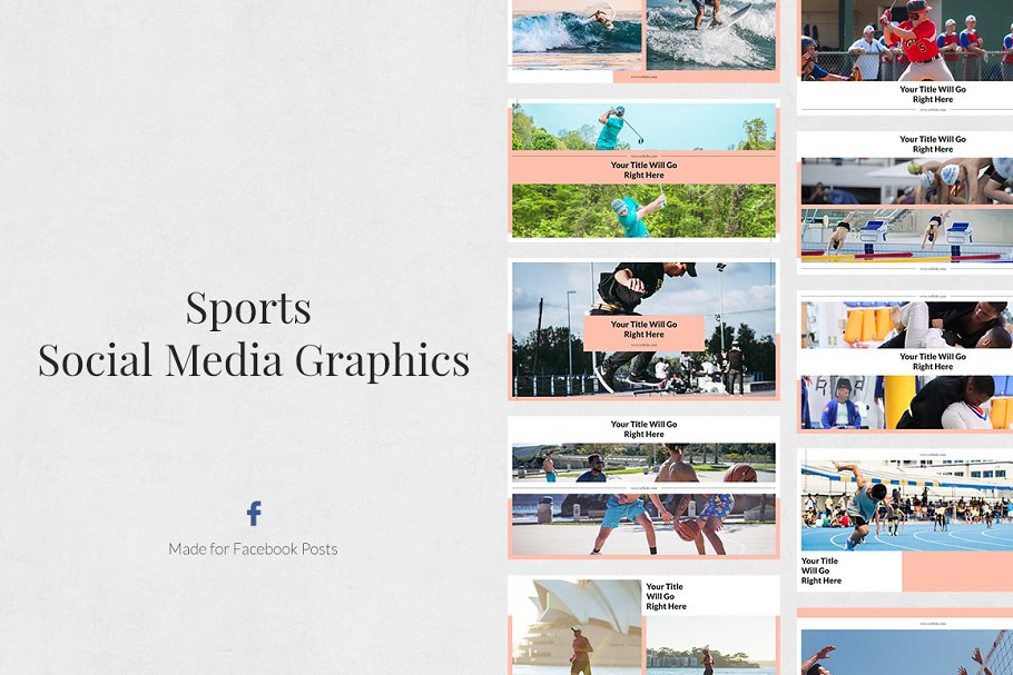 Sports Facebook Posts in Facebook Templates