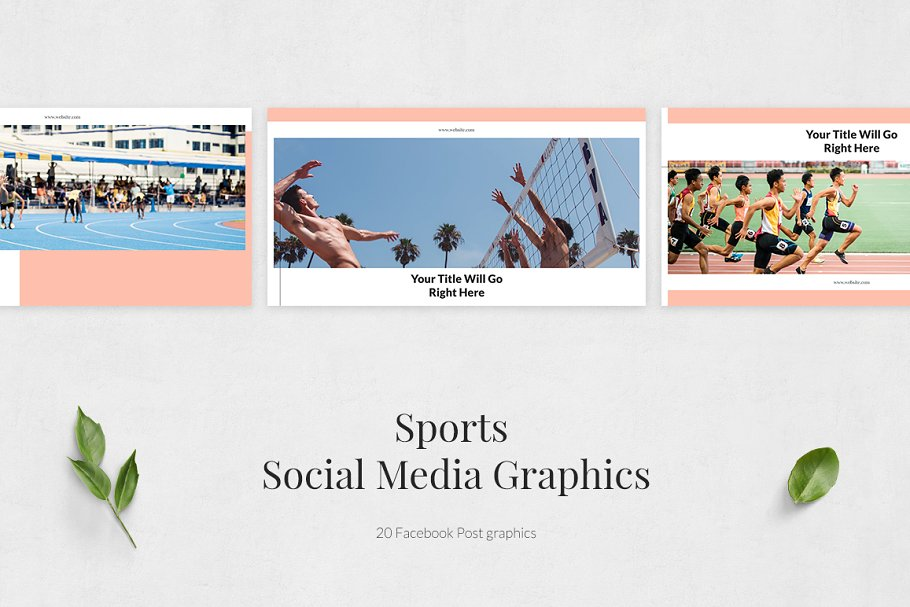 Sports Facebook Posts in Facebook Templates - product preview 1