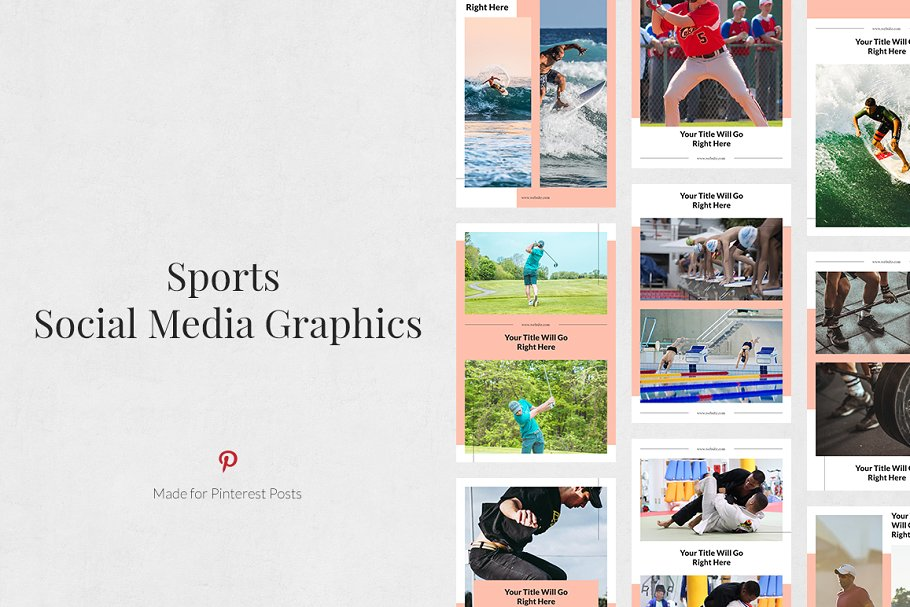 Sports Pinterest Posts in Pinterest Templates