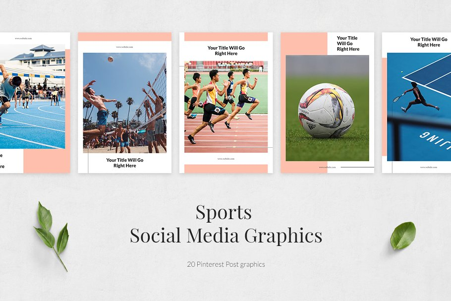 Sports Pinterest Posts in Pinterest Templates - product preview 1