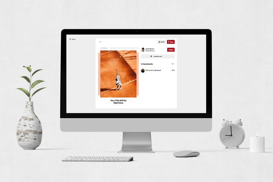 Sports Pinterest Posts in Pinterest Templates - product preview 3